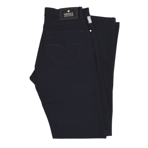 Versace Jeans Couture Stretch Nylon Pants Size 30 44 - Midnight Blue