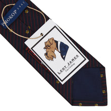 Load image into Gallery viewer, Altea Milano Silk Tie - Navy Crowns