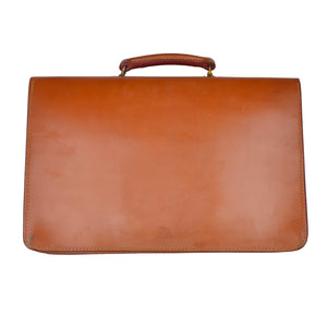John Sharp by Swaine Adeney Brigg Short Strap Briefcase - London Tan