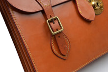 Load image into Gallery viewer, John Sharp by Swaine Adeney Brigg Short Strap Briefcase - London Tan
