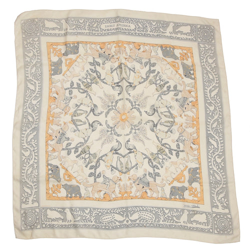 Hermès Paris Francoise de la Perriere Early America Silk Scarf