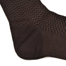 Load image into Gallery viewer, Knize Wien Merino Socks Size 11 - Brown & Black