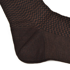 Knize Wien Merino Socks Size 11 - Brown & Black