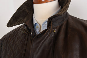 Polo Ralph Lauren Moto/Shooting Leather Jacket Size XL - Brown