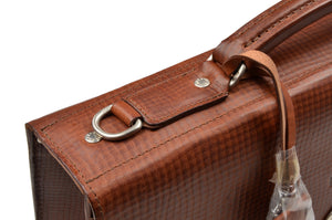 BREE Germany Leather Briefcase - Rust Brown