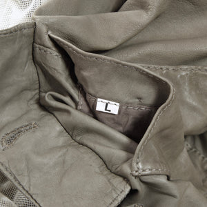 GMS-75/Gimos Leather Jacket Size L - Grey/Taupe