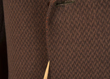 Load image into Gallery viewer, Anonymous Handmade Double-Breasted Overcoat - Brown Chevron