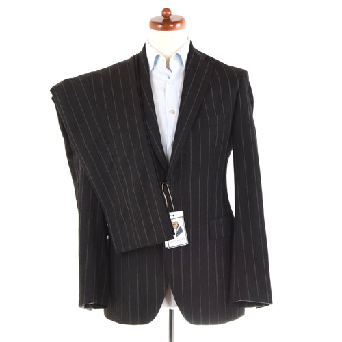 Angelico x Tagliatore Wool Flannel Suit Size 48 Slim - Charcoal
