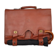 Load image into Gallery viewer, Pebble Grain Leather Satchel/Briefcase - Brown