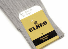 Load image into Gallery viewer, NOS Elbeo Cotton Socks Size 11  - Light Grey