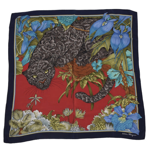 Salvatore Ferragamo Silk Scarf - Black Panther