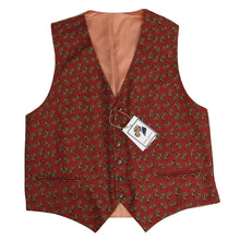 Load image into Gallery viewer, Stassny Salzburg Printed Silk Waistcoat/Vest Size XL - Orange Paisley