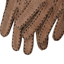 Load image into Gallery viewer, Unlined Peccary Gloves  - Walnut Brown