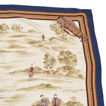 Load image into Gallery viewer, Burberrys London Golf Print Silk Scarf