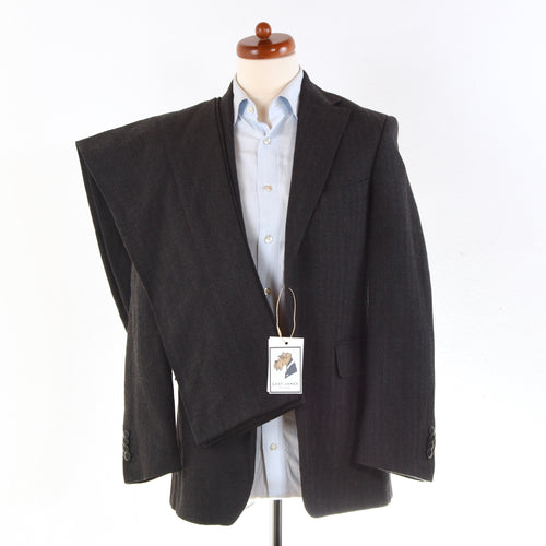 Pilatus Wool Flannel Suit Size 46 Slim - Charcoal