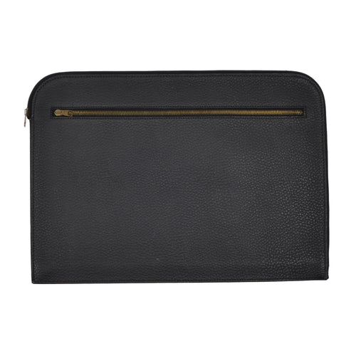 F. Schulz Wien Leather Document Holder/Portfolio - Black
