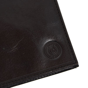 Giudi Leather Travel Wallet - Black