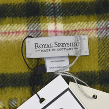 Load image into Gallery viewer, Royal Speyside 100% Cashmere Scarf - Green Plaid
