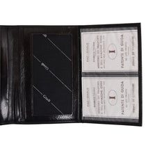 Load image into Gallery viewer, Giudi Leather Travel Wallet - Black