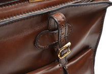 Load image into Gallery viewer, Salamander Leather Briefcase Carryall - Brown