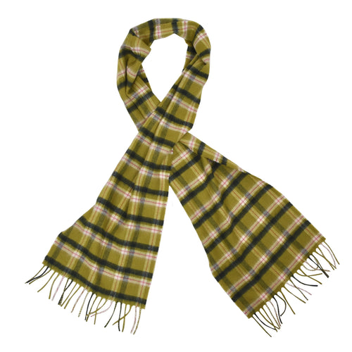 Royal Speyside 100% Cashmere Scarf - Green Plaid