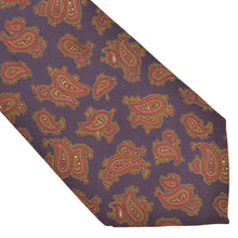 Load image into Gallery viewer, Louis Boston Paisley Silk Tie - Purple