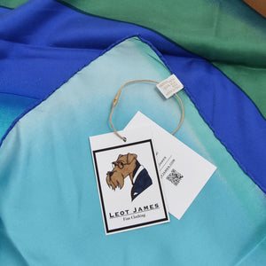 Gucci Printed Silk Scarf - Teal