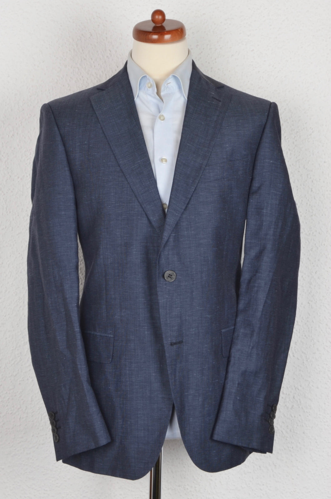 Don Gil Wool Linen Jacket Size 52 - Blue