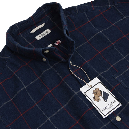 The Hill-Side Flannel Shirt Size XL - Navy Blue
