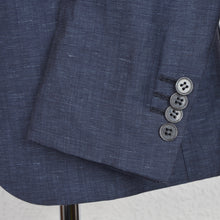 Load image into Gallery viewer, Don Gil Wool Linen Jacket Size 52 - Blue