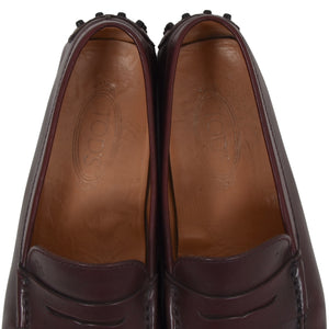 Tod's Leather Driving Shoes Size 9 - Burgundy