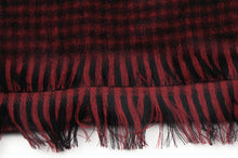 Load image into Gallery viewer, Wool & Cashmere Plaid Scarf by Harrisons - Black & Red
