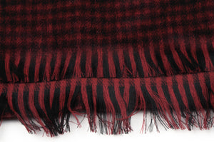 Wool & Cashmere Plaid Scarf by Harrisons - Black & Red