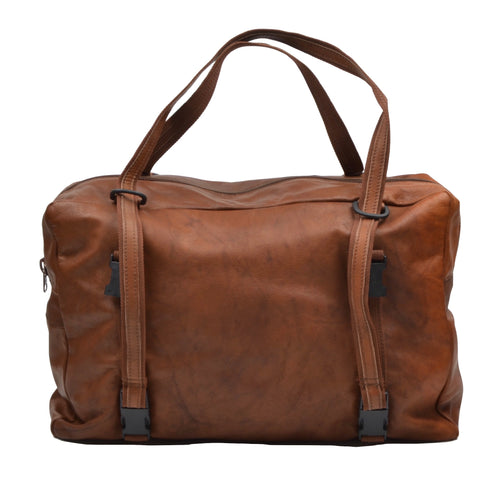 Jean Weipert Traveller Leather Gym/Duffle Bag - Brown
