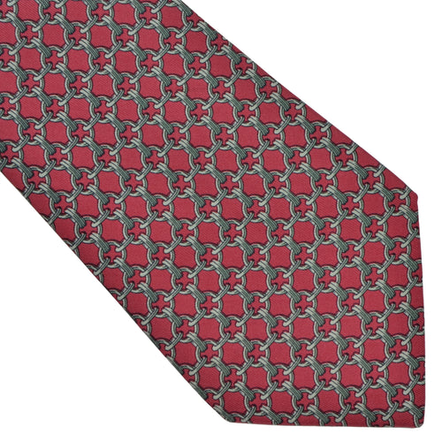 Hermès Paris Silk Tie 59 EA - Red
