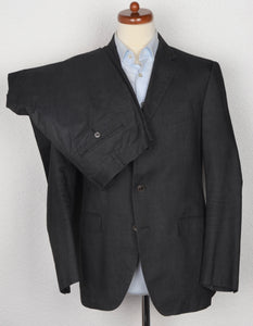 Boglioli Cotton Suit Size 52 - Charcoal