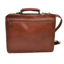 Load image into Gallery viewer, Pielle Leather Briefcase Caryall - Brown