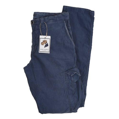 Incotex Cotton/Linen Cargo Pants Size 32 - Blue