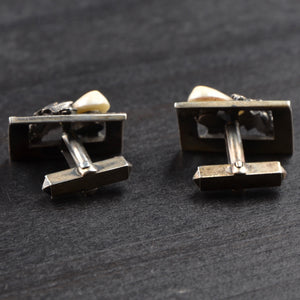 Trachten .800 Silver Cufflinks with Grandl - Oak