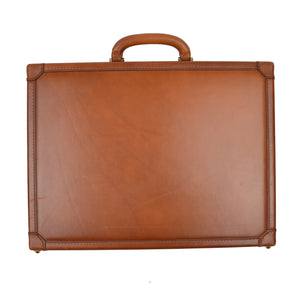 Executive Leather Briefcase - Tan