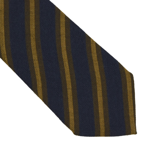 SuitSupply Striped Wool Tie - Blue/Green/Mustard