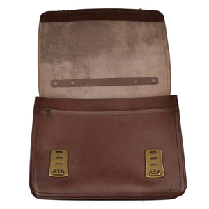 RM Oiled Leather Briefcase/Bag XL - Umber Brown