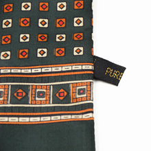 Load image into Gallery viewer, Silk Geometric Dress Scarf - Green