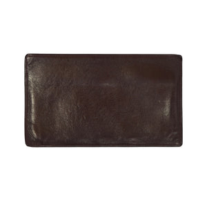 F. Schulz Wien Leather Travel Wallet/Organizer - Burgundy-Brown
