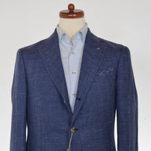 Load image into Gallery viewer, Luigi Borrelli Linen/Wool/Wilk Jacket Size 50 - Blue