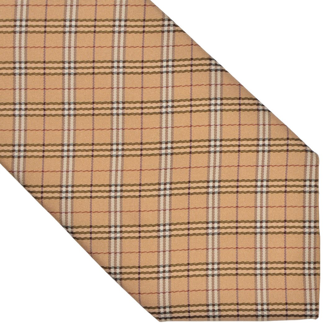 Burberry London Silk Tie - Beige Novacheck