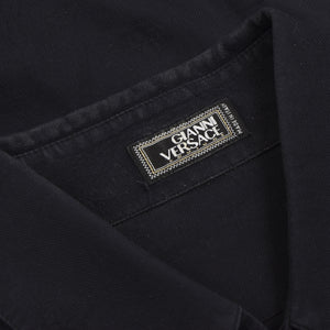 Vintage Gianni Versace Couture Shirt Size 52 - Black