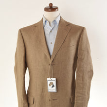 Load image into Gallery viewer, Z Zegna 100% Linen Jacket Size 52 - Tan