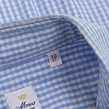 Load image into Gallery viewer, Mosca Handmade Shirt Size 43 Slim - Blue Check