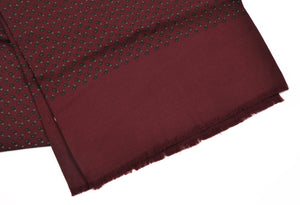 Phoenix Wien Wool Paisley Dress Scarf - Burgundy